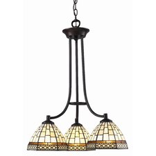 Prairie Garden 3 Light Chandelier in Chestnut Bronze