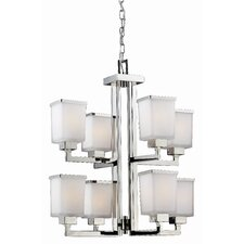 Affinia 8 Light Chandelier in Chrome