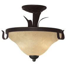 <strong>Z-Lite</strong> Fountaindale 3 Light Semi Flush Mount