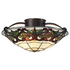 Hudson 3 Light Semi Flush Mount