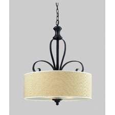 Charleston 3 Light Drum Foyer Pendant