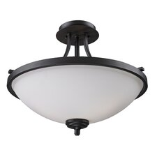 <strong>Z-Lite</strong> Chambley 3 Light Semi-Flush Mount