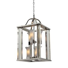 Lotus 6 Light Foyer Pendant