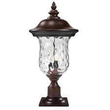 "<strong>Z-Lite</strong> Armstrong 3 Light 24.29"" Outdoor Post Lantern"