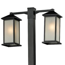 "Vienna 2 Light 116.25"" Outdoor Post Lantern Set"