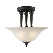Clayton 2 Light Semi-Flush Mount
