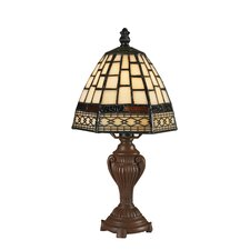 "Mini Tiffany Style 5 12"" H Table Lamp"