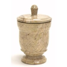 <strong>Nature Home Decor</strong> Sahara Beige Marble Canister Toothbrush Holders