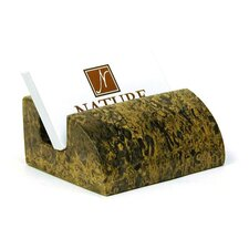 Charming Green Marble Business Card Holder
