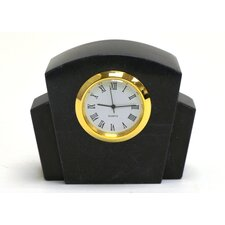 <strong>Nature Home Decor</strong> Black Marble Clock