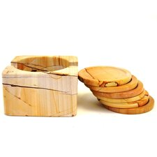 <strong>Nature Home Decor</strong> Marble Coaster Set