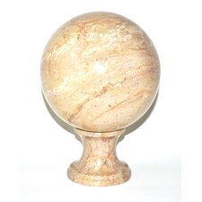 <strong>Nature Home Decor</strong> Sahara Beige Marble Sphere Sculpture