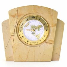 <strong>Nature Home Decor</strong> Teakwood Marble World Clock