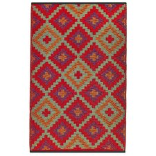 World Saman Orange/Violet Indoor/Outdoor Rug
