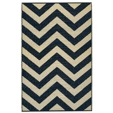 World Laguna Sand/Black Indoor/Outdoor Rug