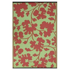 World Oslo Scarlet Red/Moss Green Rug