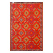 World Lhasa Orange/Violet Indoor/Outdoor Rug