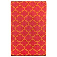 Tangier Orange Peel/Rouge Red World Indoor/Outdoor Rug