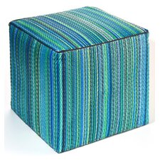 <strong>Fab Rugs</strong> World Cancun Polypropylene Cube Ottoman
