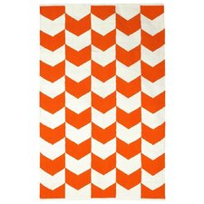 <strong>Fab Rugs</strong> Metro Orange Peel Cotton Metropolitan Rug