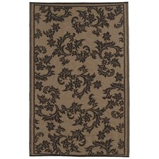 World Versailles Chocolate Brown/Tan Rug
