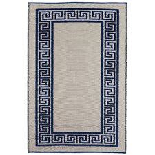 World Athens Midnight Blue/Cream Indoor/Outdoor Rug