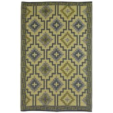 Lhasa World Empire Yellow & Gray Indoor/Outdoor Rug