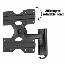 "Swivel LCD Wall Mount for 13"" to 37"" Screens in Hi-Gloss Black"