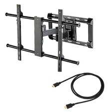 "Articulating LCD Wall Mount for 37"" to 65"" Screens in Hi-Gloss Black"