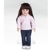 <strong>Adora Dolls</strong> Girl Play Doll Emily Ready for Fun - Brunette Hair Brown Eyes