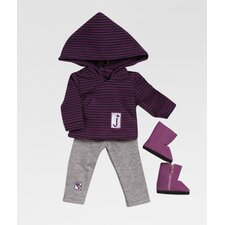 "<strong>Adora Dolls</strong> 18"" Doll Clothes - Girl Scout Jr. Hooded Shirt / Leggings Set"