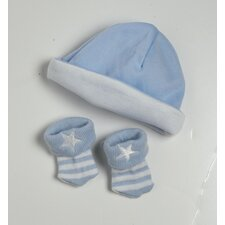 Baby Doll Accessories 2 Pieces Hat / Sock Set in Blue