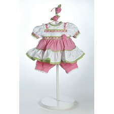 "20"" Baby Doll Polka Dot Rose Costume"