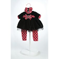 "20"" Baby Doll Black Velvet  Costume"