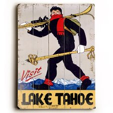 Visit Lake Tahoe Vintage Advertisement Plaque
