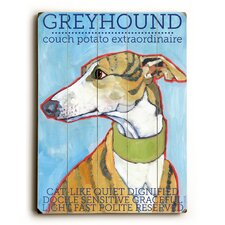 Greyhound Wood Sign