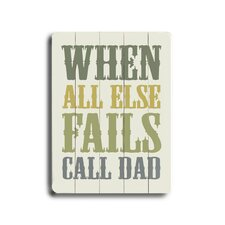 Call Dad Wood Sign
