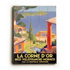 "La Corne D'or Wood Sign - 12"" x 9"""