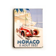 Monaco Vintage Advertisement Plaque