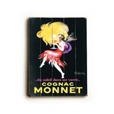 "Cognac Monnet Wood Sign - 12"" x 9"""