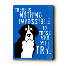 Nothing Impossible Textual Art Plaque