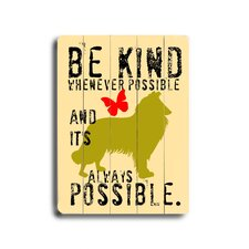 "<strong>Artehouse LLC</strong> Be Kind Wood Sign - 12"" x 9"""