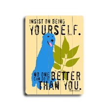 "Being Yourself Planked Wood Sign - 20"" x 14"""