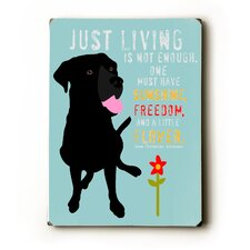 Just Living Textual Art Plaque