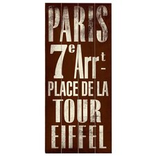 Paris Transit 7E - Arrt Textual Art Plaque