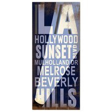 La Hollywood Transit Textual Art Plaque