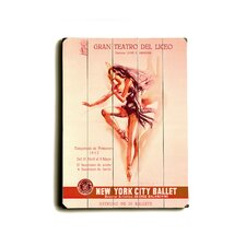 New York City Ballet Vintage Advertisement Plaque
