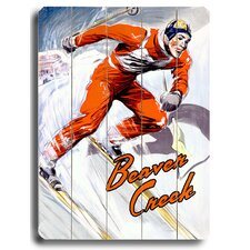 Beaver Creek Skier Vintage Advertisement Plaque