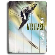 Attitash Vintage Advertisement Plaque