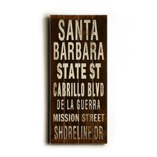 Santa Barbara Transit Wood Sign